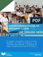 Cronograma Escolar Regimen Costa 2016 2017