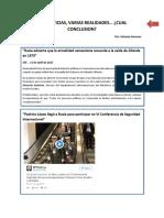Dos Noticias, Varias Realidades, Una Conclusion