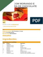 Muffins Com Morango e Cobertura de Chocolate