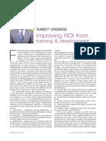 Improving ROI from Training & Development.pdf