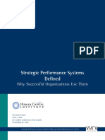 Strategic Performance Systems Defined - Why Successful Organizations Use Them