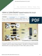 100VA to 220VA MOSFET Based Inverter Kit Circuit _ Circuits DIY