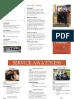 brochure - service awareness campaign