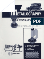 ASMT - STP 1165 - Metallography; Past, Present, And Future (75th Anniversary Volume)