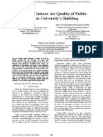 A Study of Indoor Air Quality of Public Toilet in University's Building