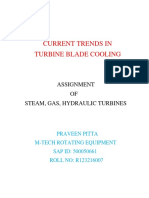 Current Trends of Blade Cooling in Gas Turbines