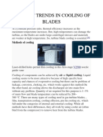 current Trends in Cooling of Blades