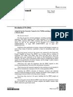 UN Resolution 2270 (2016)