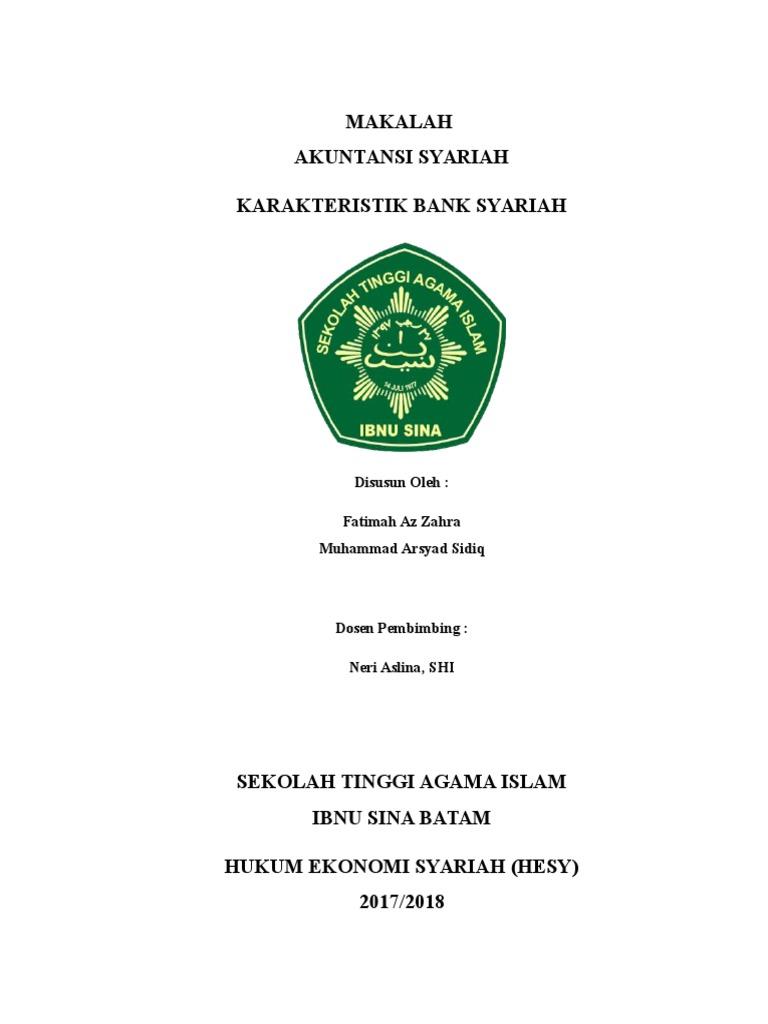 Cover Makalah Akuntansi Syariah
