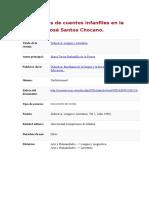 Evocaciones de Cuentos Infanfiles en La Poesía de José Santos Chocano
