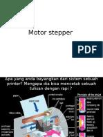Motor Stepper Penjelasan Presentasi