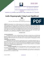 Audio Steganography Using Least Significantbit