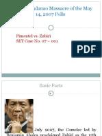 Koko Pimentel vs. Zubiri Protest