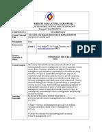 Stu 2073 Course Plan 2017 Dr Siti