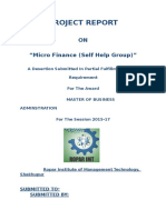 Micro Finance (Self Help Group)""