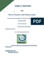 """Micro Finance (Self Help Group)"""""""