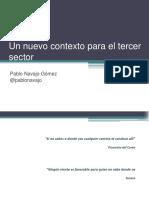 Nuevo contexto y nuevos retos para el tercer sector