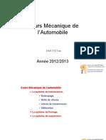 Cours Mécanique Automobile
