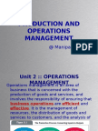 Operation and management