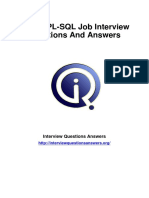 Oracle PL SQL Interview Questions Answers Guide