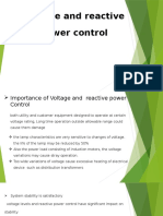 Voltage and Reactive Power Control