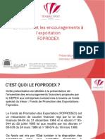 Le Soutien Et Les Encouragements à l'Exportation Foprodex1