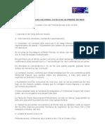 Acta ANc de Premià de Mar con el aviso del ayuntamiento