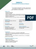EMENTA - Gestão Estratégica de Processos - Modelo