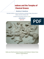 Moving Shadows and the Temples of Classical Greece