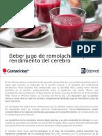 Beber Jugo de Remolacha Mejora El Rendimiento Del Cerebro