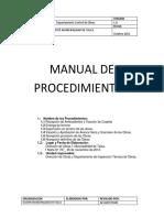 Manuel Procedimientos Control de Obras