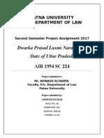 Dwarka Prasad Laxmi Narayan vs. State of Uttar Pradesh
