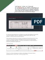 Manual Para Configurar Cotas en Autocad