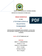 Institute of Erosion Studies 2nd International Training Workshop Preliminary Papges