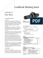 Data Sheet 15kV Bushin Insert 200AMP