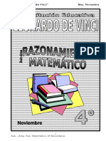 Noviembre - Razonamiento Matemático - 4to