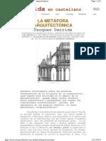 Derrida j La Metafora Arquitectonica