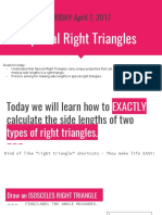 day 2  special right triangles