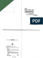 Ricoeur Interpretation Theory