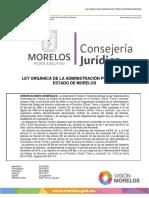 Ley Orgánica de La Administración Del Estado de Morelos 2016_1 08-12-2015