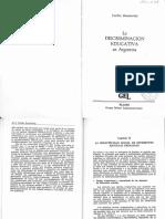 CECILIA BRASLAVSKY La Discriminacion Educativa en Argentina