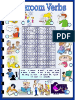 Classroom Verbs Word Search (NXPowerLite)