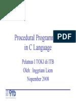 C and Prosedural Programming