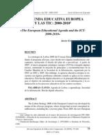La Agenda Educativa Europea y Las TIC