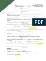 Corrección Primer Parcial de Cálculo III (Ecuaciones diferenciales), 26 de abril de 2017