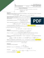 Corrección Primer Parcial de Cálculo III (Ecuaciones diferenciales), 24 de abril de 2017 (tarde)