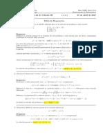 Corrección Primer Parcial de Cálculo III (Ecuaciones diferenciales), 27 de abril de 2017