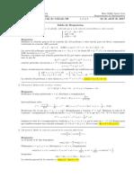 Corrección Primer Parcial de Cálculo III (Ecuaciones diferenciales), 25 de abril de 2017