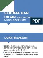 Drain post modified radical mastectomy