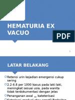 Hematuria Ex Vacuo